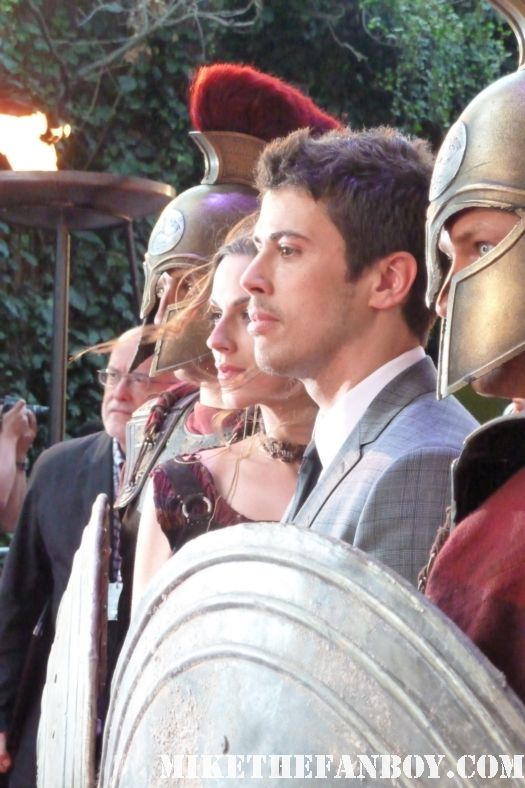 Toby Kebbell signing autographs at the wrath of the titans london movie premiere rare promo