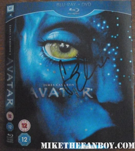 sam worthington signed autograph avatar blu ray dvd sleeve rare promo hot sexy wrath of the titans movie premiere