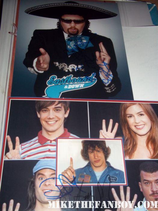 danny mcbride signed autograph hot rod eastbound and down photo rare promo hot andy samberg promo photo photo shoot rare