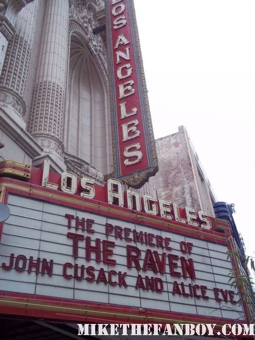 the raven world movie premiere in los angeles with john cusack alive eve luke evans autographs photos and more marquee