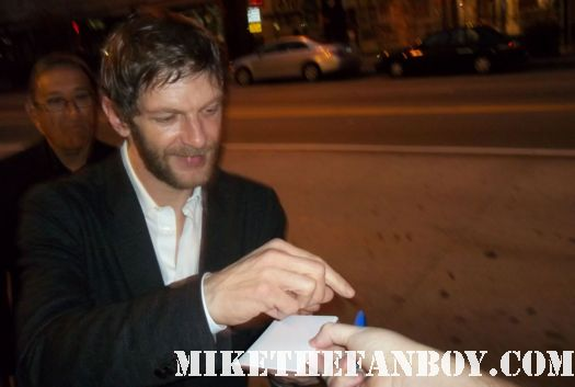 Sam Hazeldine signing autographs for fans at the raven world movie premiere rare hot promo the raven