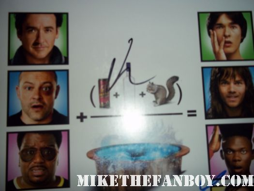 john cusack signed autograph hot tub time machine rare promo mini poster movie poster rare hot promo