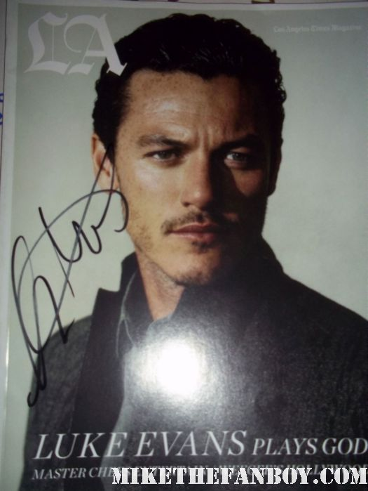 luke evans sexy hot immortals rare los angeles LA magazine signed autograph hot sexy gay rare promo