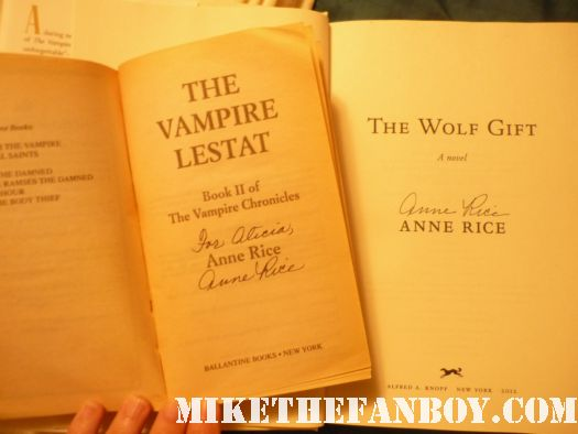 anne rice signed books book signing at the los angeles times festival of books 2012 the vampire lestat the wolf gift signed autographed books anne rice