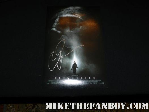 guy pearce signed autograph prometheus mini movie poster promo one sheet movie poster promo ridley scott