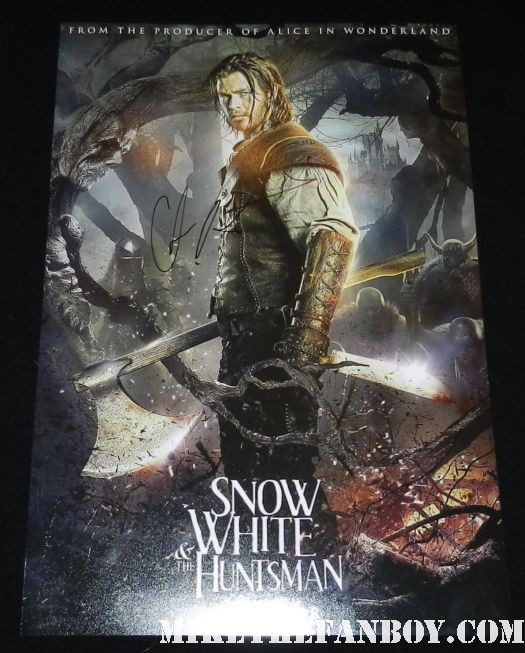 chris hemsworth signed autograph snow white and the huntsman rare promo movie poster individual rare hot sexy