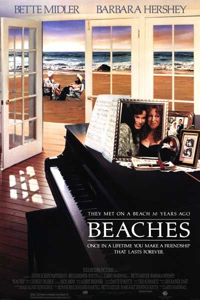 beaches rare one sheet movie poster promo bette midler barbara hershey rare