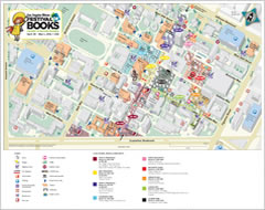 los angeles times festival of books campus map and itinery rare promo 2012 festival of books map