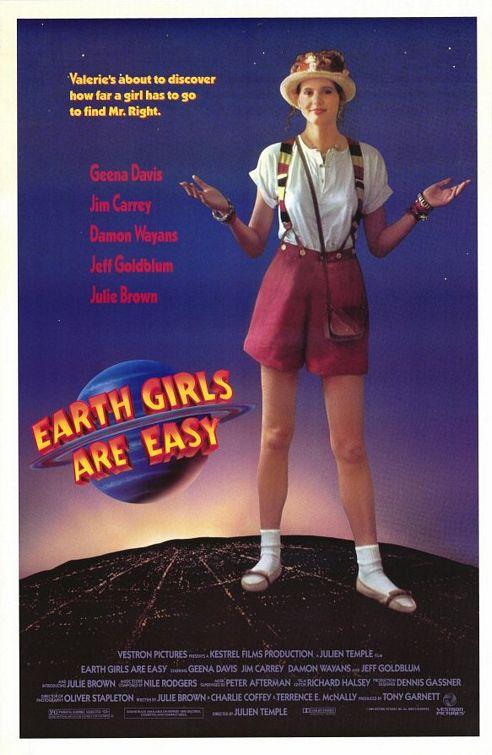 earth_girls_are_easy rare one sheet movie promo poster geena davis jim carrey damon wayans julie brown rare