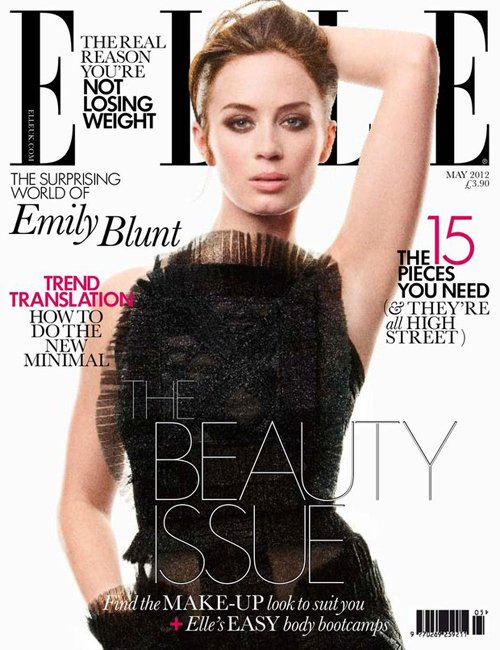 emily-blunt-elle-uk-may-2012- (4) emily blunt covers the may 2012 issue of elle uk magazine promoting the five year engagement rare promo hot sexy photo shoot the devil wears prada hot