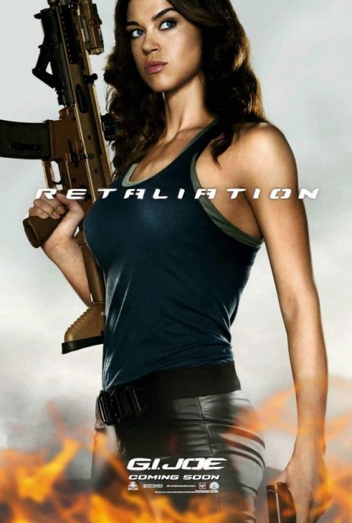 gi_joe_retaliation_ver2 Adrianne Palicki hot sexy individual promo one sheet movie poster promo hot chicks with guns g.i. joe