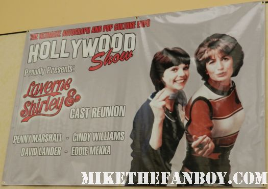 hollywood show hollywood collector's show laverne and shirley reunion with cindy williams and penny marshall rare signed autograph