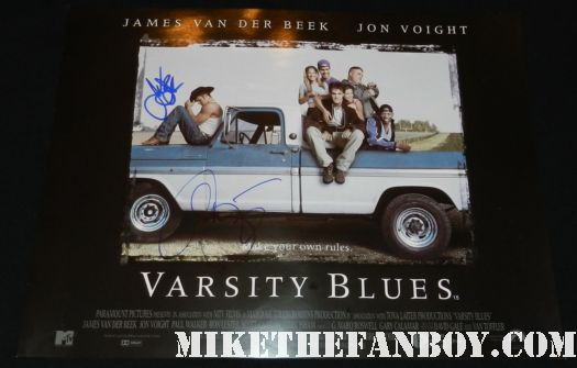 james van der beek signed autograph varsity blues uk quad mini movie poster promo football movie hot sexy rare promo