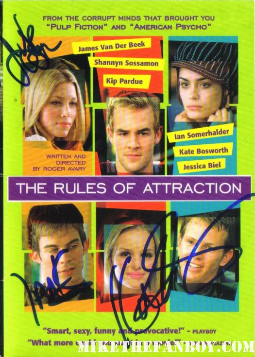 james van der beek signed rules of attraction dvd ian somerhaulder kate bosworth rare promo hot sexy bret easton ellis james avary