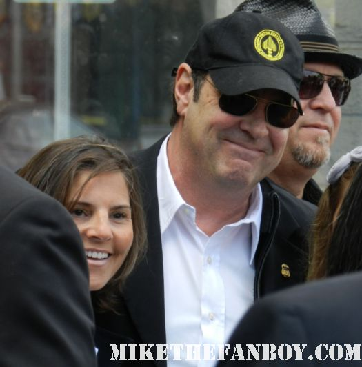 dan aykroyd arriving to john cusack's walk of fame star ceremony on hollywood blvd
