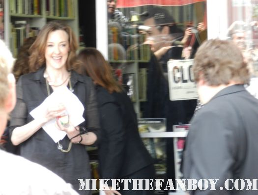 joan cusack arriving to john cusack's walk of fame star ceremony on hollywood blvd