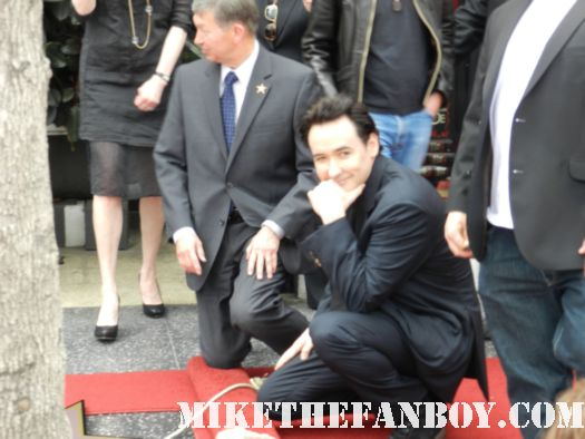 John Cusack getting honored on the hollywood walk of fame  john cusack's walk of fame star ceremony on hollywood blvd