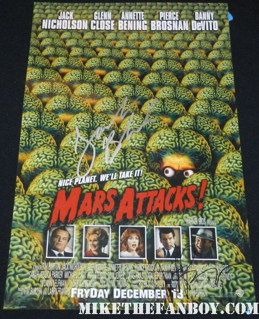 jack black signed autograph annette benning mars attacks rare promo mini movie poster promo hot jack black signing autographs at john cusack's walk of fame star ceremony John Cusack getting honored on the hollywood walk of fame  john cusack's walk of fame star ceremony on hollywood blv