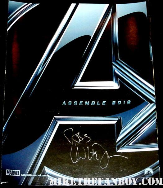 joss whedon signed autograph rare avengers rare promo mini movie poster marvel promo