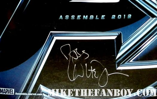 joss whedon signed autograph rare avengers rare promo mini movie poster marvel promo
