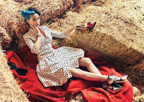 katy-perry-teen-vogue magazine cover photo shoot hot sexy rare promo may 2012 teen vogue magazine cover blue hair