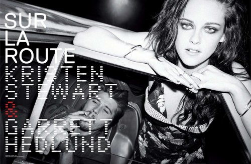 kristen stewart and garrett hedlund cover the may 2012 issue of jalouse magazine hot sexy photo shoot on the road rare sexy shirtless promo photo