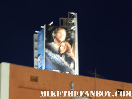 the titanic in 3d large giant movie poster in hollywood with leonardo dicaprio and kate winslett