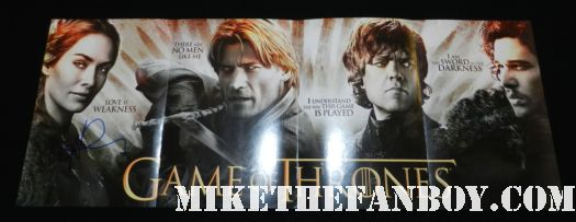lena headey signed autograph game of thrones promo entertainment weekly magazine insert hot sexy rare promo sean bean