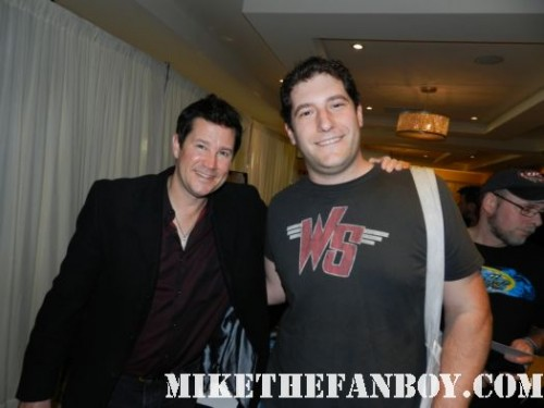 fright night star william ragsdale aka charlie brewster posing for a fan photo with mike the fanboy at monsterpalooza 2012