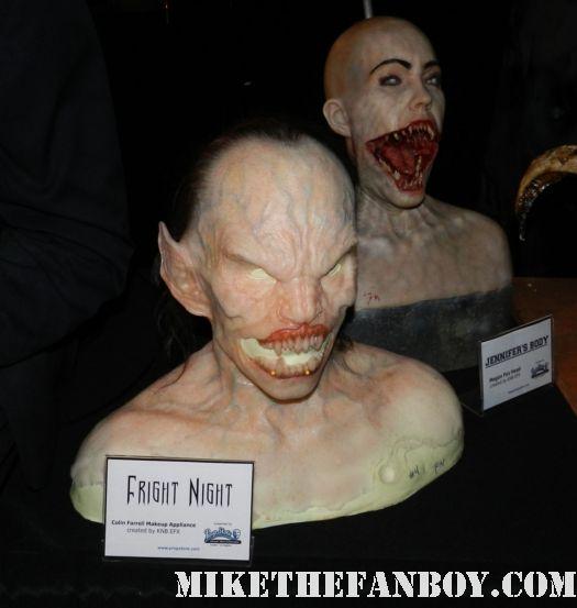 colin farrell fright night original prop appliance demon mask and megan fox jennifer's body makeup appliance bust rare monsterpalooza 2012