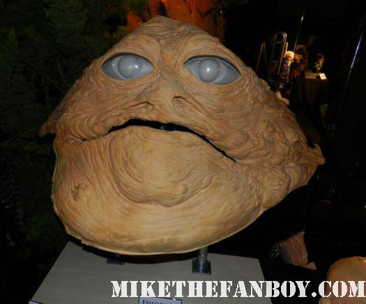 star wars return of the jedi jabbah the hut original makeup facial prop monsterpalooza 2012 rare promo museum prop