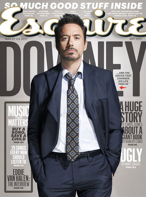 robert-downey-jr-esquire magazine may 2012 cover iron man avengers star hot sexy magazine cover rare promo esquire magazine may 2012