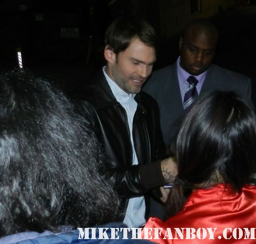 Seann William Scott signs autographs for fans after a talk show taping rare sexy stifler from american pie american reunion