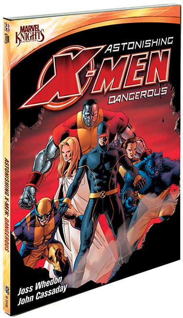 astonishing X-men: Dangerous dvd review cover promo press art joss whedon rare promo