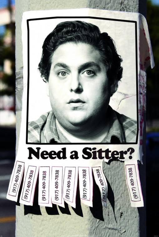 disgusting and untalented jonah hill in the sitter rare promo one sheet movie poster promo unfunny untalented jonah hill is a pig