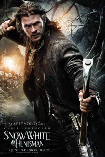 chris hemsworth snow white and the huntsman rare british character individual movie poster promo