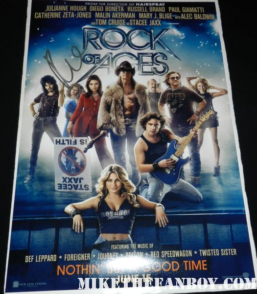 russell brand signed autograph rock of ages one sheet movie poster promo rare hot sexy cast