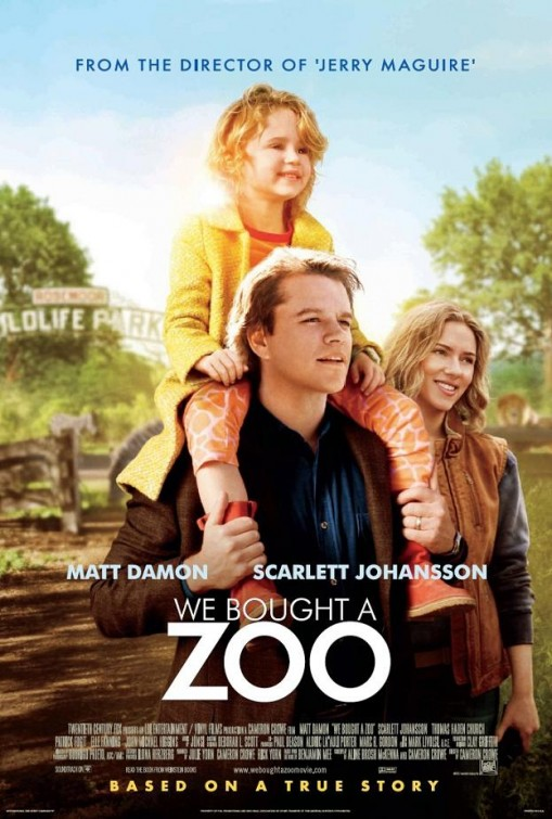 we_bought_a_zoo rare one sheet movie poster promo matt damon scarlett johansson hot elle fanning cameron crowe rare