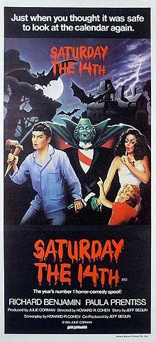 Saturday the 14th rare australian one sheet movie poster daybill promo julie corman rare jeffrey tambor paula prentiss julie corman