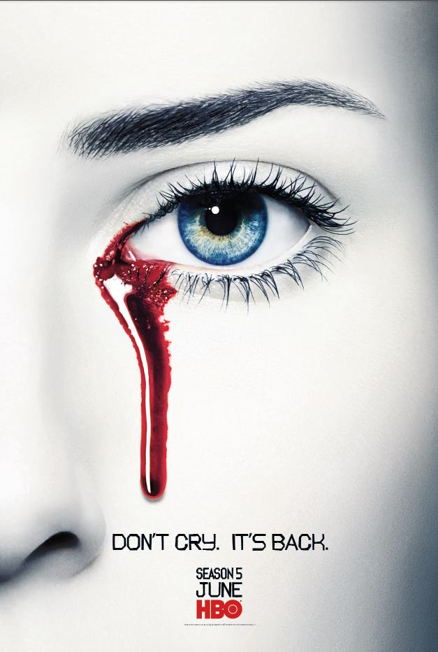 true blood season 5 rare teaser poster don't cry it's back rare promo poster one sheet anna paquin rare promo hot sexy television poster hbo