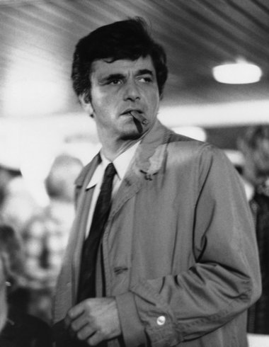 peter falk promo press still columbo hot rare detective fedora rumpled suit hot cigar dancer