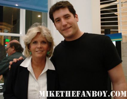 Mike the fanboy posing with family ties star meredith baxter birney from family ties at the paley center in hollywood