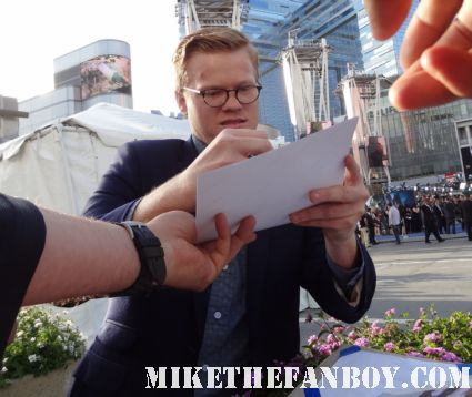 Jesse Plemons signing autographs at the Battleship premiere in los angeles rare hot sexy friday night lights star