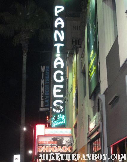 Christie Brinklet in chicago at the pantages theatre in hollywood rare promo fanboy fail christie brinkley disses fans