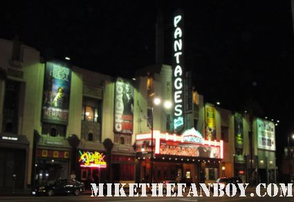the marquee at the pantages theater in los angeles where christie brinkley is performing in chicago