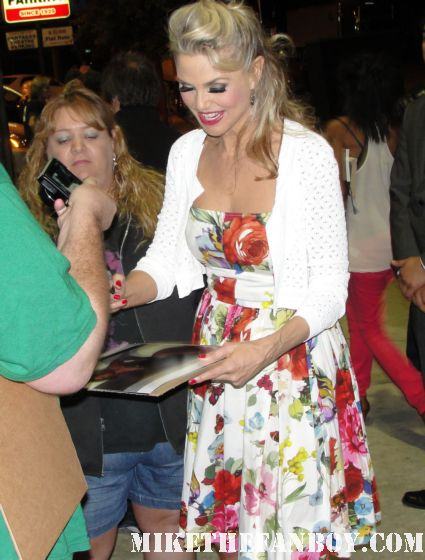 christie brinkley signing autographs for fans after the final performance of chicago at the pantages theatre in hollywood rare vacation roxie hart sports illustrated supermodel hot sexy