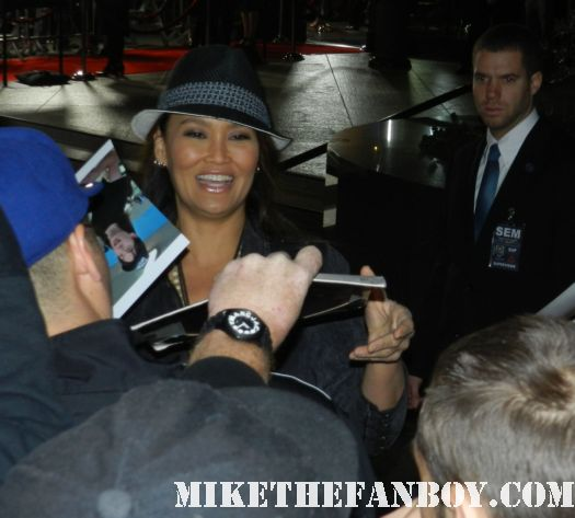 tia carrere signing autographs at the  Jeff Who Lives At Home Movie Premiere! With Jason Segel! Judy Greer! and Disses From Ed Helms and Susan Sarandon! Autographs! Photos and More!