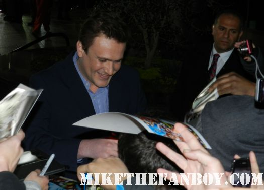 jason segel signing autographs at the Jeff Who Lives At Home Movie Premiere! With Jason Segel! Judy Greer! and Disses From Ed Helms and Susan Sarandon! Autographs! Photos and More!