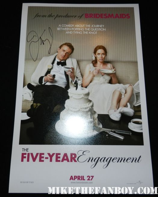 jason segel signed autograph the five year engagement mini movie poster promo rare hot jason segel signing autographs at the Jeff Who Lives At Home Movie Premiere! With Jason Segel! Judy Greer! and Disses From Ed Helms and Susan Sarandon! Autographs! Photos and More!