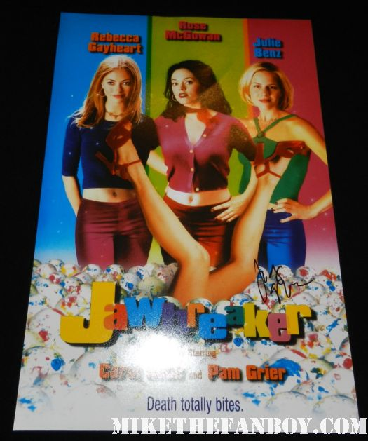 judy greer signed autograph jawbreaker rare mini promo movie poster promo hot shirtless sexiness men
